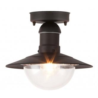 RABALUX 8716 | OsloR Rabalux mennyezeti lámpa 1x E27 IP44 UV fekete, átlátszó
