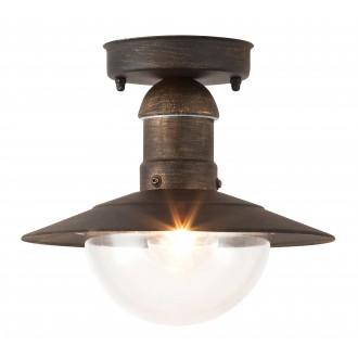 RABALUX 8736 | OsloR Rabalux mennyezeti lámpa 1x E27 IP44 UV antikolt arany, átlátszó