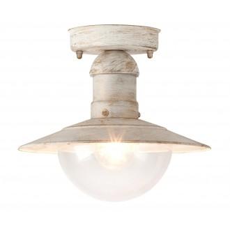 RABALUX 8739 | OsloR Rabalux mennyezeti lámpa 1x E27 IP44 UV antikolt fehér, átlátszó