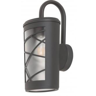 RABALUX 8742 | PescaraR Rabalux falikar lámpa 1x E27 IP44 UV antracit szürke, opál
