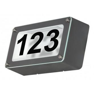 RABALUX 8747 | Hannover Rabalux fali lámpa 1x LED 480lm 4500K IP54 antracit, átlátszó