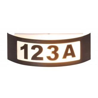 RABALUX 8748 | Innsbruck Rabalux fali lámpa 1x E27 IP44 UV antracit, fehér