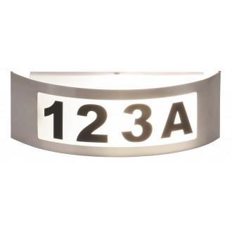 RABALUX 8749 | Innsbruck Rabalux fali lámpa 1x E27 IP44 UV nemesacél, rozsdamentes acél, fehér