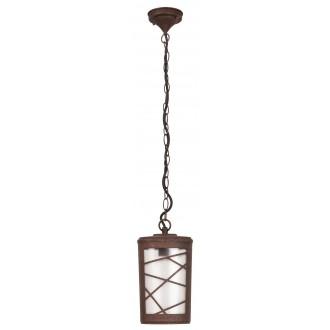 RABALUX 8758 | PescaraR Rabalux függeszték lámpa 1x E27 IP44 UV barna, rozsdabarna, opál