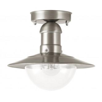 RABALUX 8763 | OsloR Rabalux mennyezeti lámpa 1x E27 IP44 UV nemesacél, rozsdamentes acél, átlátszó