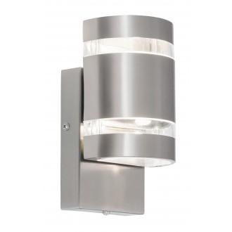 RABALUX 8779 | Cambridge Rabalux fali lámpa fényérzékelő szenzor - alkonykapcsoló 2x LED 330lm 4000K IP44 nemesacél, rozsdamentes acél