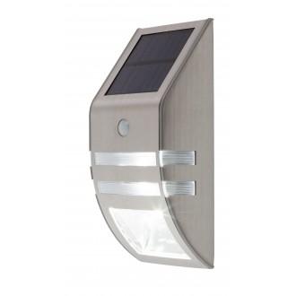 RABALUX 8783 | Rijeka Rabalux fali dekor lámpa mozgásérzékelő napelemes/szolár 1x LED 50lm + 1x LED 15lm 6000K IP44 nemesacél, rozsdamentes acél