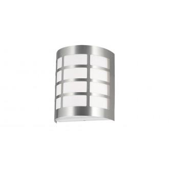 RABALUX 8799 | SevillaR Rabalux fali lámpa 1x E27 IP44 UV szatén króm, fehér
