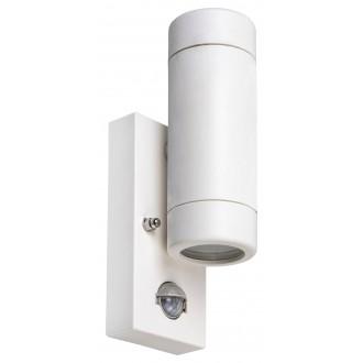 RABALUX 8839 | Medina-RA Rabalux falikar lámpa mozgásérzékelő 2x GU10 IP44 UV matt fehér