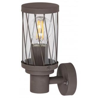 RABALUX 8888 | Budapest_RA Rabalux falikar lámpa 1x E27 IP44 UV barna, átlátszó