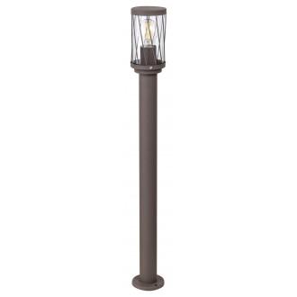 RABALUX 8890 | Budapest_RA Rabalux álló lámpa 80cm 1x E27 IP44 UV barna, átlátszó