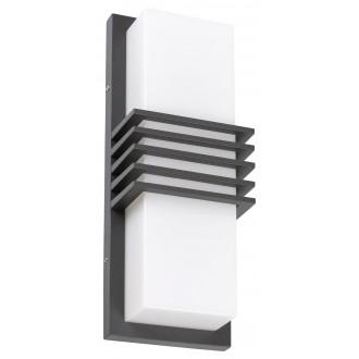 RABALUX 8940 | Rodez Rabalux fali lámpa 1x LED 800lm 4000K IP44 UV antracit szürke, fehér