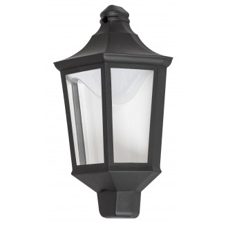 RABALUX 8979 | Rosewell Rabalux fali lámpa 1x LED 500lm 3000K IP44 UV matt fekete, átlátszó