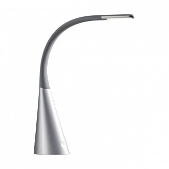 REDO 01-1038 | Alias Redo asztali lámpa 52cm kapcsoló USB csatlakozó 1x LED 330lm 3000K fekete, ezüst
