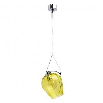 REGENBOGEN 606010401 | Bremen-MW Regenbogen függeszték lámpa 1x E27 645lm króm, átlátszó, sárga