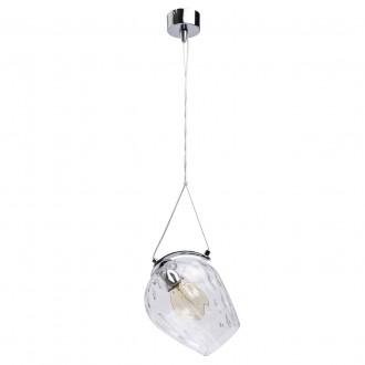 REGENBOGEN 606010501 | Bremen-MW Regenbogen függeszték lámpa 1x E27 645lm króm, átlátszó