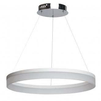 REGENBOGEN 661011401 | Plattling Regenbogen függeszték lámpa 1x LED 6696lm 3200K króm, fehér, opál