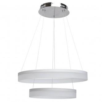 REGENBOGEN 661011502 | Plattling Regenbogen függeszték lámpa 1x LED 4092lm 3200K króm, fehér, opál
