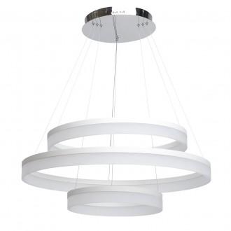 REGENBOGEN 661011603 | Plattling Regenbogen függeszték lámpa 1x LED 9486lm 3200K króm, fehér, opál