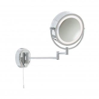 SEARCHLIGHT 11824 | MirrorS Searchlight fali lámpa húzókapcsoló elforgatható alkatrészek 1x E14 IP44 króm, tükör