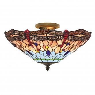 SEARCHLIGHT 1289-16 | Dragonfly Searchlight mennyezeti lámpa 3x E14 antikolt réz, színes
