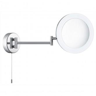 SEARCHLIGHT 1456CC | MirrorS Searchlight fali lámpa húzókapcsoló elforgatható alkatrészek 1x LED 295lm 4000K IP44 króm, savmart, tükör