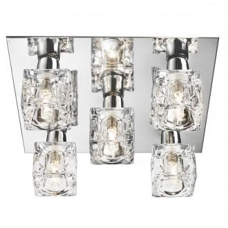 SEARCHLIGHT 2275-5-LED | Ice-Cube Searchlight mennyezeti lámpa 5x LED 750lm 3000K króm, átlátszó