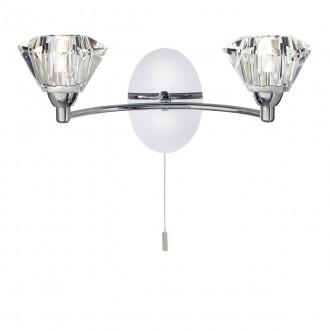 SEARCHLIGHT 2632-2CC   SierraS Searchlight falikar lámpa húzókapcsoló 2x G9 króm, átlátszó