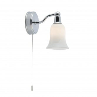 SEARCHLIGHT 2931-1CC-LED | Belvue Searchlight falikar lámpa húzókapcsoló 1x G9 280lm 3000K IP44 króm, fehér, savmart