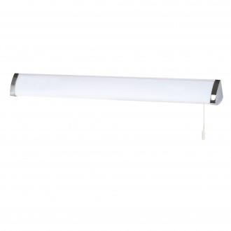 SEARCHLIGHT 5372CC | Poplar Searchlight fali lámpa húzókapcsoló 1x G5 / T5 4000K IP44 króm, fehér, opál