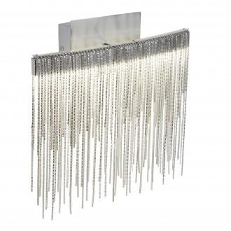 SEARCHLIGHT 6052SS | Memphis Searchlight falikar lámpa kapcsoló 1x LED 480lm 4000K króm, szatén ezüst, szürke