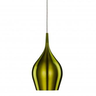 SEARCHLIGHT 6461-12GR | Vibrant Searchlight függeszték lámpa 1x E14 metál zöld, fehér