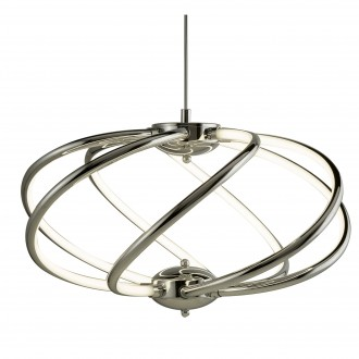 SEARCHLIGHT 6500-7CC | Bardot Searchlight függeszték lámpa rövidíthető vezeték 1x LED 2550lm 3000K króm, fehér