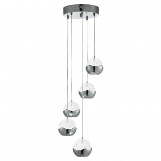 SEARCHLIGHT 7355-5CC | Ice-Ball Searchlight függeszték lámpa 5x LED 1500lm 3000K króm, átlátszó, buborékos hatás