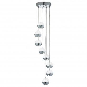 SEARCHLIGHT 7358-8CC | Ice-Ball Searchlight függeszték lámpa 8x LED 2400lm 3000K króm, átlátszó, buborékos hatás