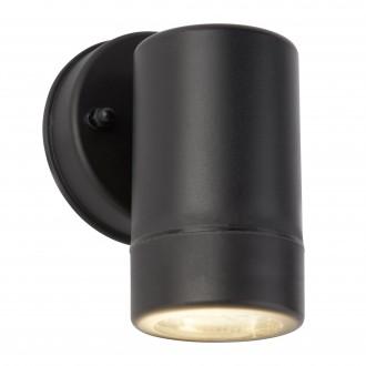 SEARCHLIGHT 7591-1BK | OutdoorS-021 Searchlight fali lámpa tengerpartra tervezve 1x GU10 270lm 3000K IP44 fekete, átlátszó