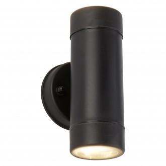 SEARCHLIGHT 7592-2BK   OutdoorS-021 Searchlight fali lámpa tengerpartra tervezve 2x GU10 540lm 3000K IP44 fekete, átlátszó