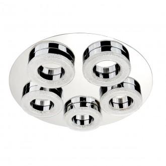 SEARCHLIGHT 8015-5CC | PoloS Searchlight mennyezeti lámpa 1x LED 2460lm 4000K króm, fehér, kristály hatás