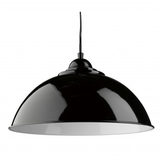 SEARCHLIGHT 8140BK | FusionS Searchlight függeszték lámpa 1x E27 metál fekete, fehér