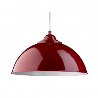 SEARCHLIGHT 8140RE | FusionS Searchlight függeszték lámpa 1x E27 metál piros, fehér