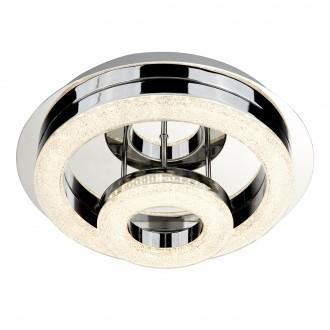 SEARCHLIGHT 9109-28CC | PoloS Searchlight mennyezeti lámpa 1x LED 1500lm 4000K króm, fehér, kristály hatás