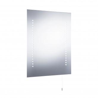 SEARCHLIGHT 9305 | MirrorS Searchlight fali lámpa húzókapcsoló elemes/akkus 1x LED 196lm 6000K IP44 fehér, savmart, tükör