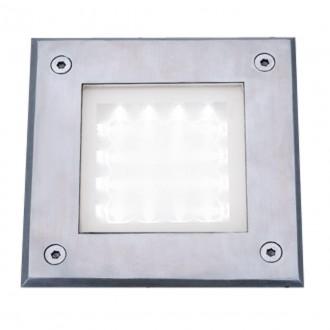 SEARCHLIGHT 9909WH   Walkover Searchlight beépíthető lámpa 150x150mm 1x LED 20lm 6000K IP68 króm, átlátszó, savmart