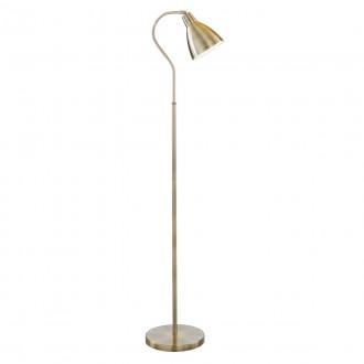 SEARCHLIGHT EU5026AB | Adjustable Searchlight álló lámpa 145cm kapcsoló elforgatható alkatrészek 1x E27 antikolt réz, fehér