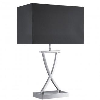 SEARCHLIGHT EU7923SS | Club Searchlight asztali lámpa 49cm kapcsoló 1x E14 szatén ezüst, fekete