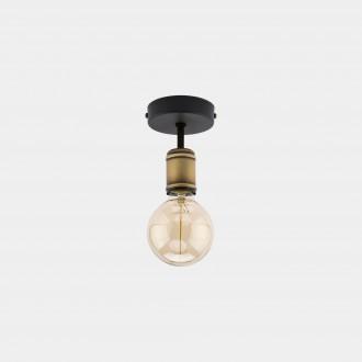 TK LIGHTING 1901 | Retro-TK Tk Lighting mennyezeti lámpa 1x E27 fekete, antikolt bronz