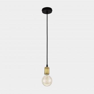 TK LIGHTING 1903 | Retro-TK Tk Lighting függeszték lámpa 1x E27 fekete, antikolt bronz