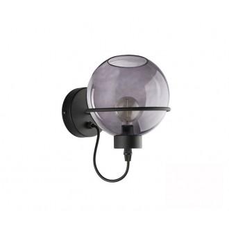 TK LIGHTING 1971 | Pobo Tk Lighting falikar lámpa 1x E27 fekete, füst