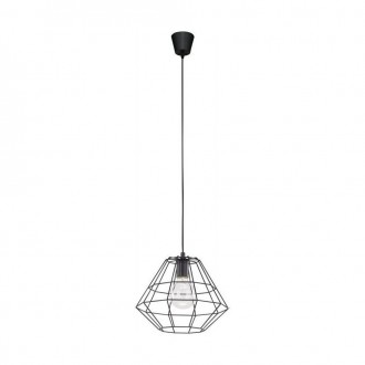 TK LIGHTING 1995 | Diamond-Black-TK Tk Lighting függeszték lámpa 1x E27 fekete