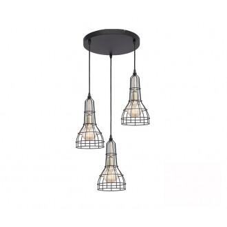 TK LIGHTING 2230 | Long Tk Lighting függeszték lámpa 3x E27 fekete, arany
